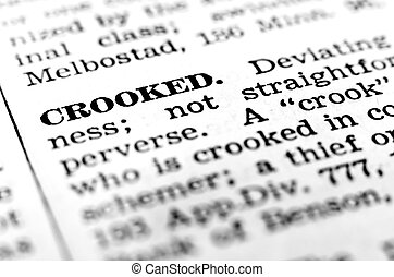 Define Definition of Crook Crooked