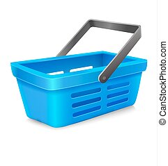 vector blue shopping basket to Market