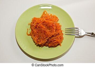 Speghetti squash - The spaghetti squash Cucurbita pepo also...