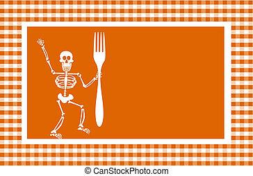 dia das bruxas, esqueleto, fundo