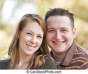 Happy Young Couple - Close up of a Happy Young Couple...
