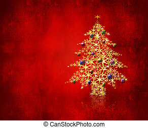 Christmas eve - An image of a christmas tree made of stars...