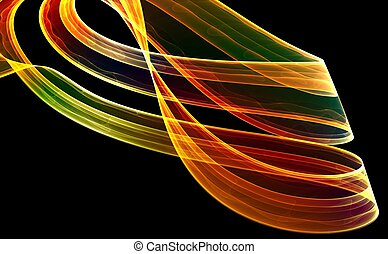 Colorful 3D fractal (fantasy,abstract background)