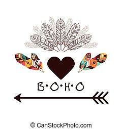 Boho design - Boho icon digital design, vector illustration...