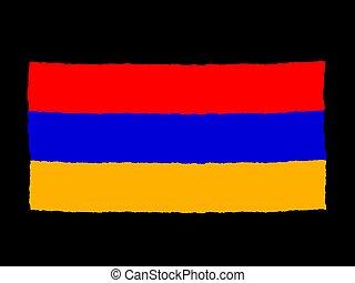 Handdrawn flag of Armenia