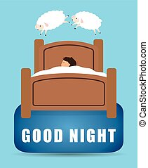 Good Night design - Good Night digital design, vector...