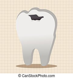Tooth model theme elements