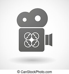 Cinema camera icon with a drone - Illustration of an...