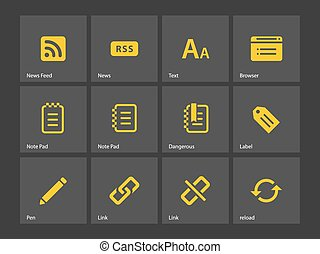 Blogger icons. Vector illustration.