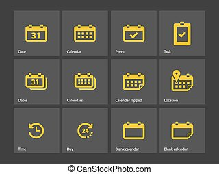 Calendar icons. Vector illustration.