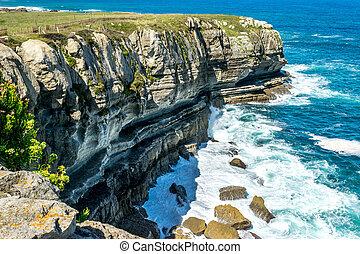 Cantabric sea cliffs - Detail of cliffs in Cantabrian Coast