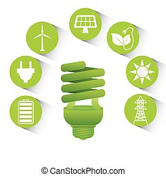 Go green design - Go green design, vector illustration eps...