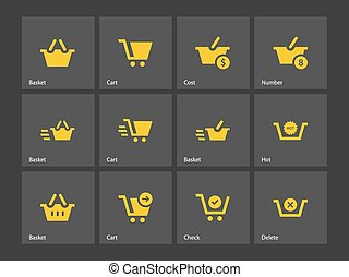 Checkout icons. Vector illustration.