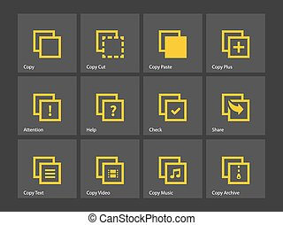 Copy Paste icons for Apps, Web Pages. - Copy Paste icons for...