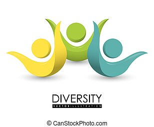 Diversity people design, vector illustration eps 10.