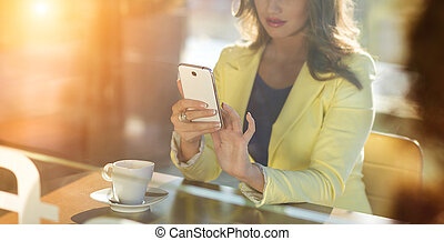 Woman with smartphone - Attractive young woman with smart...