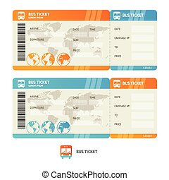 Bus ticket. Vector - Bus ticket isolated on white...