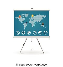 Flip chart business concept. Vector - Flip chart business...