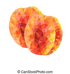 abstract triangles peaches