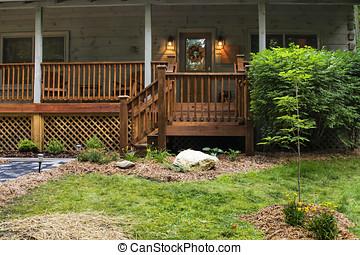 fronte, cabina, veranda