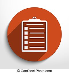 Vector clipboard web icon - Vector clipboard web icon Eps10...