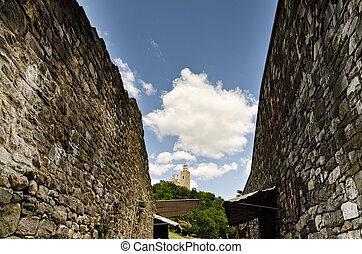 Main gate of Tsarevets fortress, Veliko Tarnovo, Bulgaria