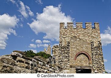 Main gate of Tsarevets fortress, Veliko Tarnovo, Bulgaria