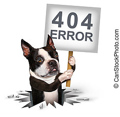 404 Error - 404 error page not found concept and a broken or...