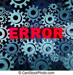 Error page concept and a problem website with a broken or...