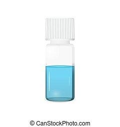 Vial illustration on white background, lab glassware, 3d...