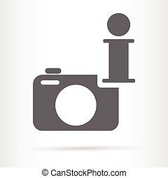 camera and info symbol icon