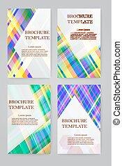 Brochure design template set.
