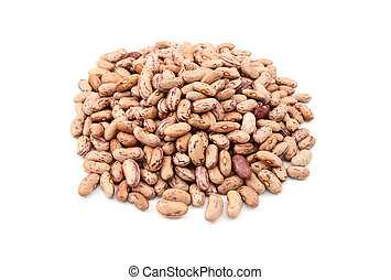 Borlotti beans also know as cranberry beans, roman or romano...