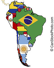 political map of south america - some map of south american...
