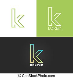 letter K logo alphabet design icon set background 10 eps