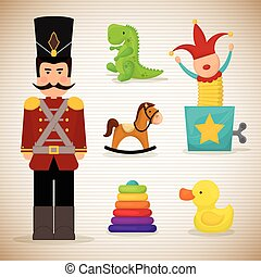 Baby toys design. - Baby toys design, vector illustration...