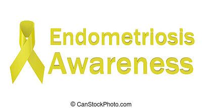 amarillo, cinta, Endometriosis, Conocimiento,