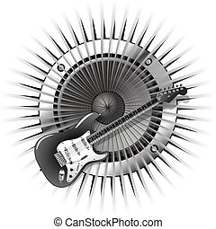 background with electric guitar and speaker