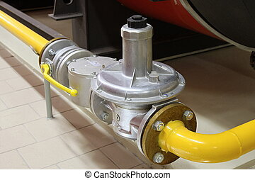 Gas pipe and segment gate - Gas valve, Gas pipeline with...