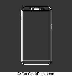 Vector modern  smartphone isolated on black