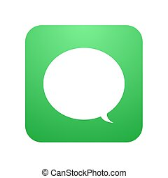 Vector modern chat icon. Bubble speech