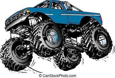 monstor truck - ford monster truck jumping