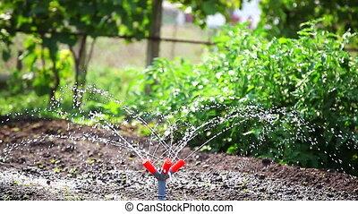 Watering garden equipment