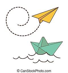 Origami design. - Origami digital design, vector...