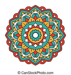 Mandala. Ornamental round pattern.