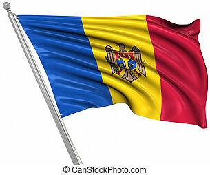 Flag of Moldova , This is a computer generated and 3d...