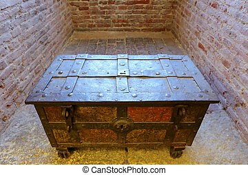An antique chest at Castelvecchio - An antique chest at...