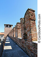 Castle Fortress (Castelvecchio) - The path along the...