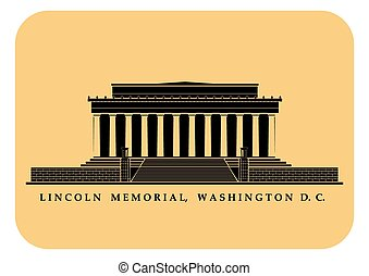 Lincoln Memorial - An illustration of Lincoln Memorial in...