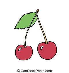 vector illustration of cherry